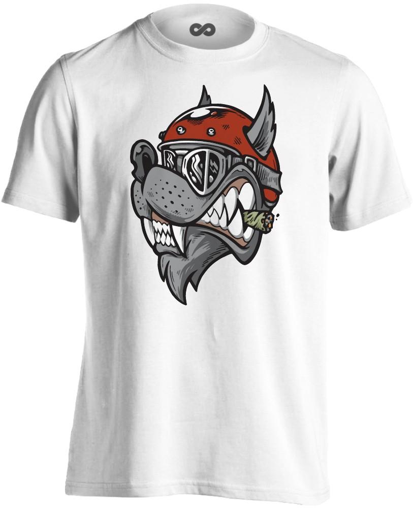 385c17458e №19 motoros férfi póló (fehér)