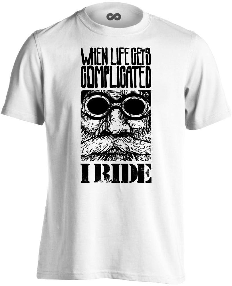 a5a525a9fe №5 motoros férfi póló (fehér)