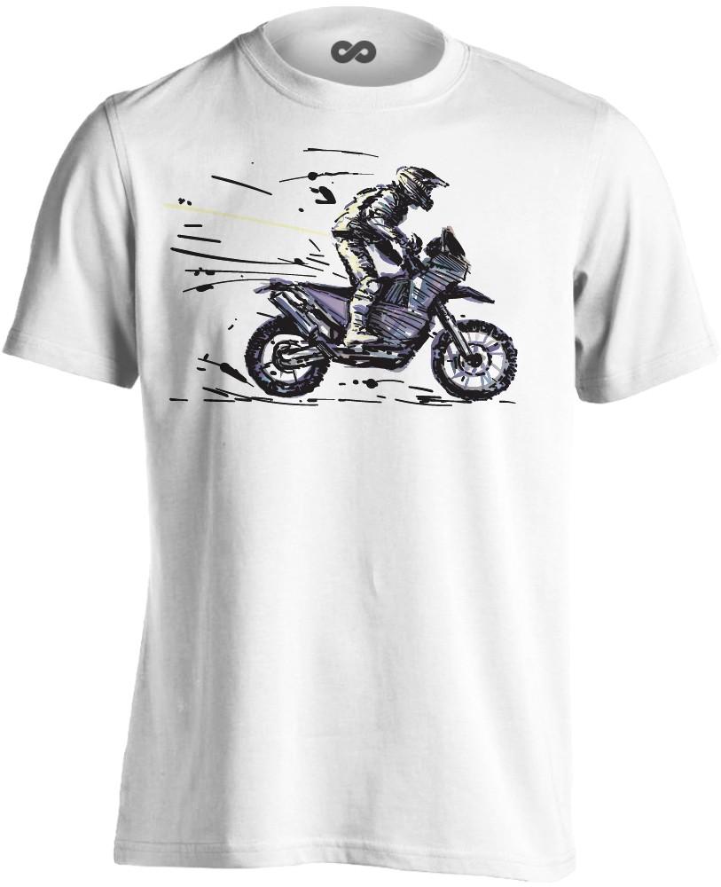 80424f7608 №9 motoros férfi póló (fehér)