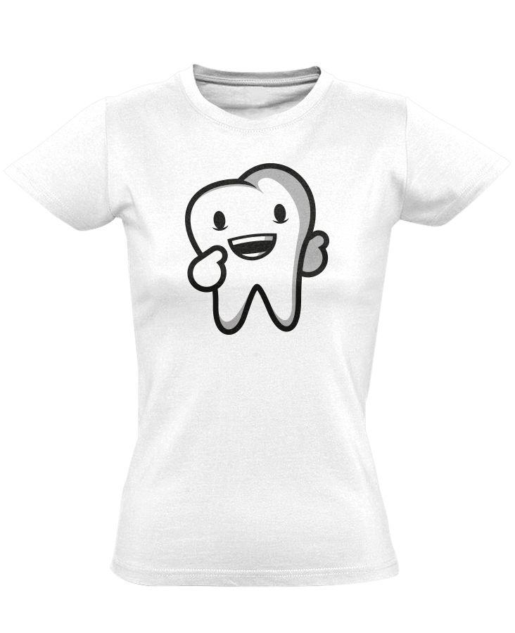937a70148c Boldog Fog fogászati női póló (fehér) - PólóVerzum